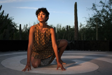 Dancer Raji Ganesan poses for a portrait at the Desert Botanical Gardens in Phoenix, Arizona on April 19th, 2017.